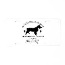 English Springer dog breed designs Aluminum Licens