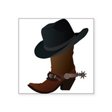 Western Boot & Hat Icon Sticker