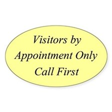 Visitors by Appointment Only Rectangle Decal