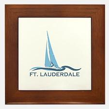 Fort Lauderdale - Sailing Design Framed Tile
