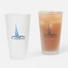 Fort Lauderdale - Sailing Design Drinking Glass