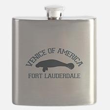 Fort Lauderdale - Manatee Design. Flask