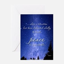 ACIM Blank Greeting Card: Peace is inevitable