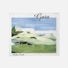 Gaia - Mother Earth Throw Blanket