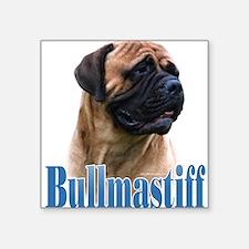 Bullmastiff(red)Name Rectangle Sticker