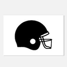 Football helmet Postcards (Package of 8)