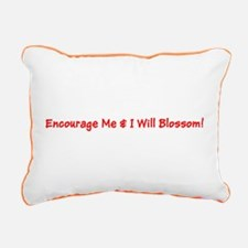 Encourage Me I Will Blossom Red Rectangular Canvas