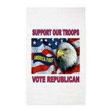SUPPORT OUR TROOPS 3'x5' Area Rug