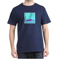 PAINTED PURPLE SWIMMER T-Shirt