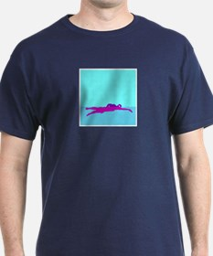 PAINTED PURPLE SWIMMER T-Shirt