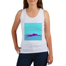 PAINTED PURPLE SWIMMER Women's Tank Top