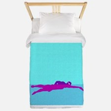 PAINTED PURPLE SWIMMER Twin Duvet
