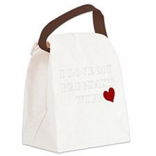 pregnant wife love.png Canvas Lunch Bag