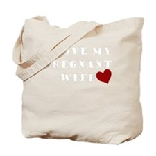 pregnant wife love.png Tote Bag