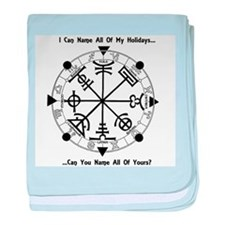 Pagan Wheel of the Year T-Shirt baby blanket