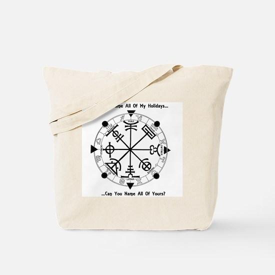 Pagan Wheel of the Year T-Shirt Tote Bag
