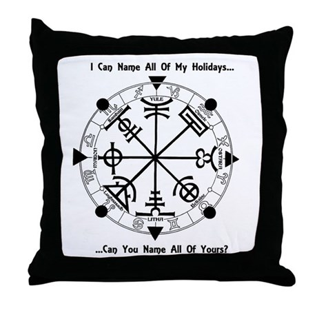 Pagan Wheel of the Year T-Shirt Throw Pillow