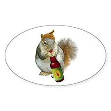 Squirrel Acorn Beer Decal