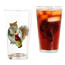 Squirrel Acorn Beer Drinking Glass