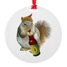 Squirrel Acorn Beer Ornament