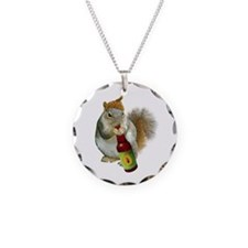 Squirrel Acorn Beer Necklace