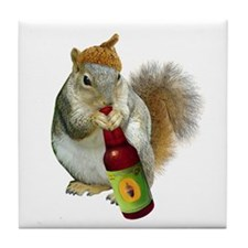 Squirrel Acorn Beer Tile Coaster