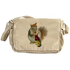 Squirrel Acorn Beer Messenger Bag