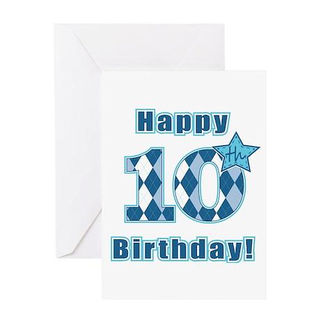 Happy 10th Birthday Greeting Card By Mightybaby Happy Birthday Wishes 10 Year Boy