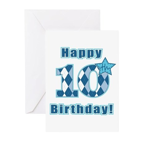 Happy 10th Birthday! Greeting Cards (Pk of 10)