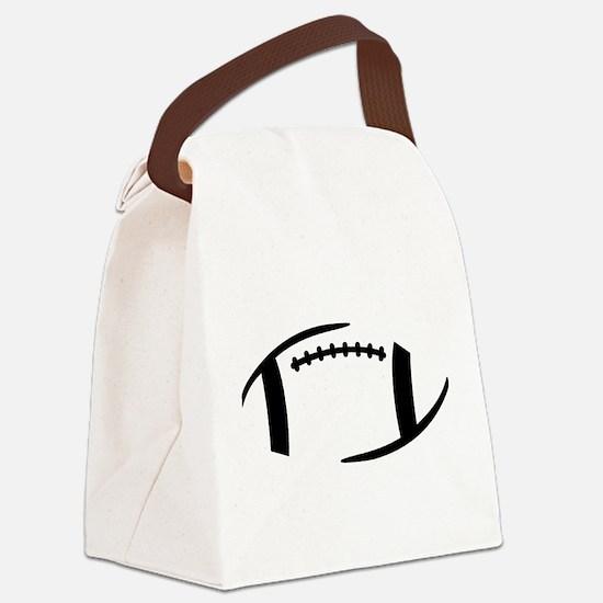 Football Canvas Lunch Bag