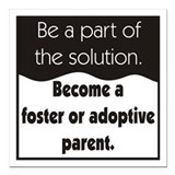 Foster care Square Car Magnets