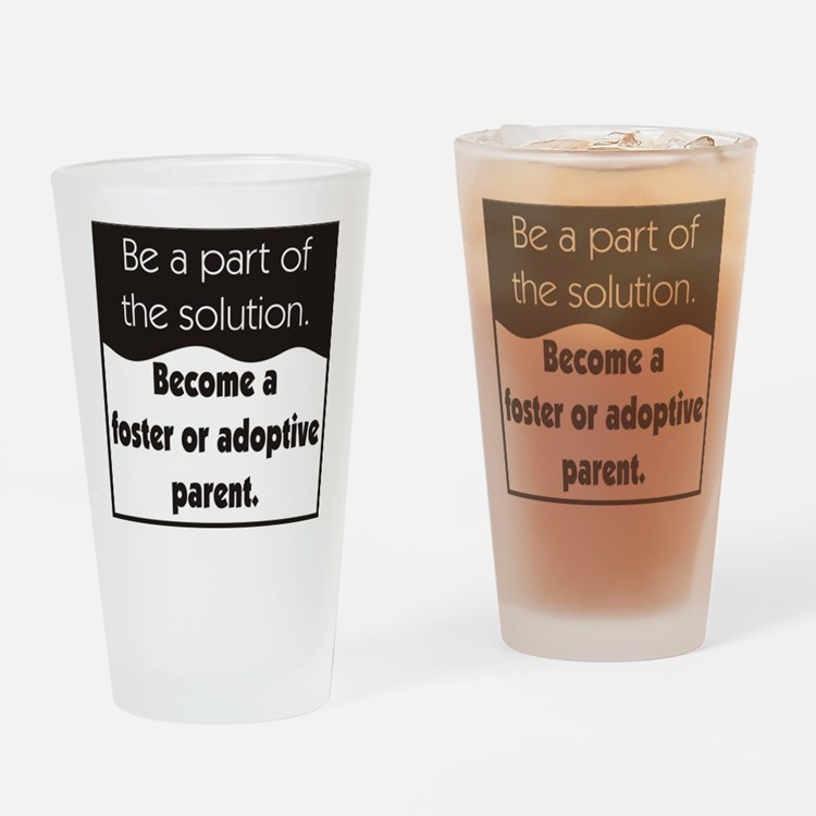 Foster Care and Adoption Drinking Glass