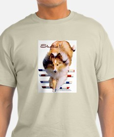 """Sheltie!"" Ash Grey T-Shirt"