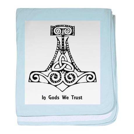 In Gods We Trust baby blanket
