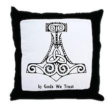 In Gods We Trust Throw Pillow