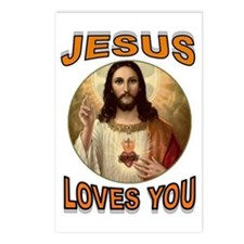 JESUS LOVES YOU Postcards (Package of 8)