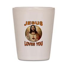 JESUS LOVES YOU Shot Glass