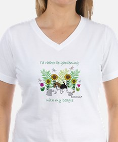 id rather be gardening with my dog.. T-Shirt