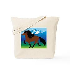 Bay Icelandic horse Tote Bag