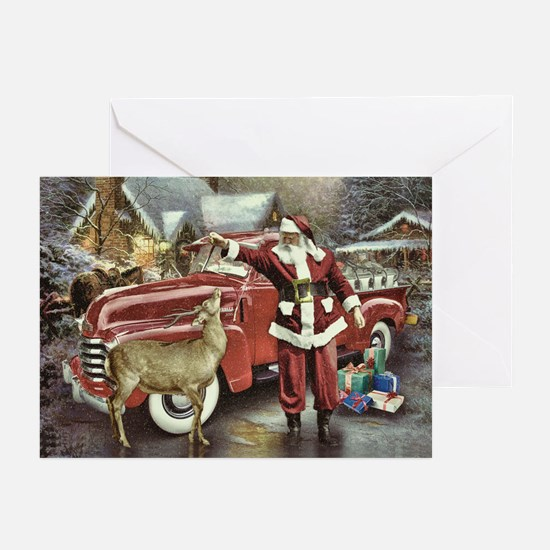 Feeding Time At Christmas (pk Of Greeting Cards