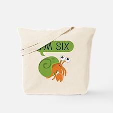 6th Birthday Hermit Crab Tote Bag