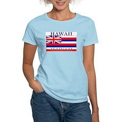 Hawaii Hawaiian State Flag Women's Pink T-Shirt