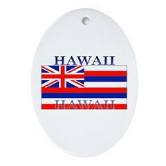 Hawaii Hawaiian State Flag Oval Ornament