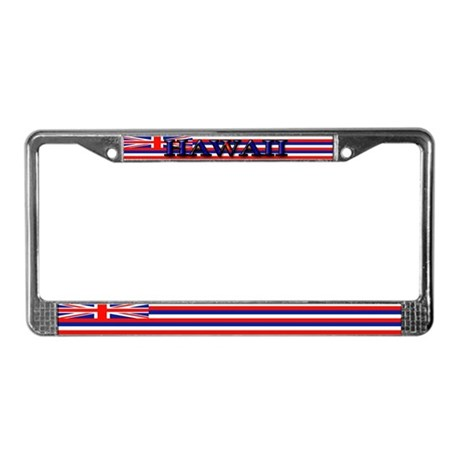 Hawaii Hawaiian State Flag License Plate Frame