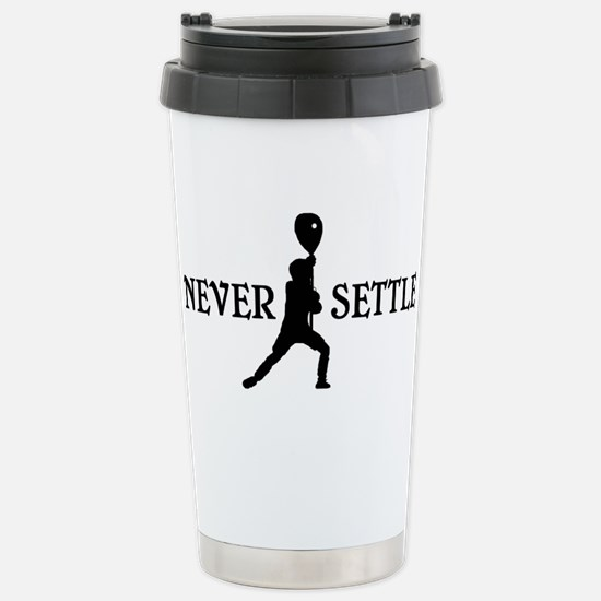 Lacrosse Goalie Never Settle Black and White Trave