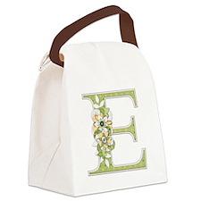 Monogram Letter E Canvas Lunch Bag