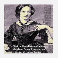 Anne Bronte Tile Coaster