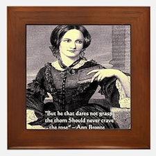 Anne Bronte Framed Tile