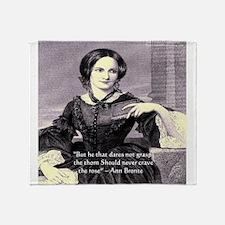Anne Bronte Throw Blanket