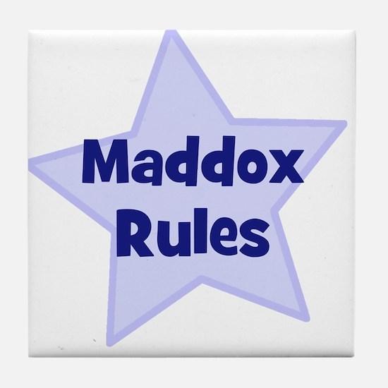 Maddox Rules Tile Coaster